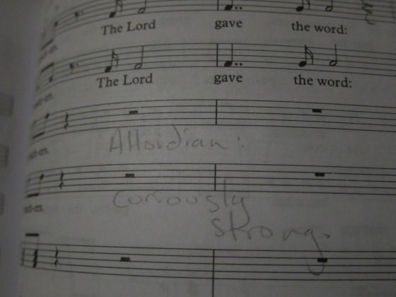 "The sopranos were requested to sing ""in a manner more alto...dian."""